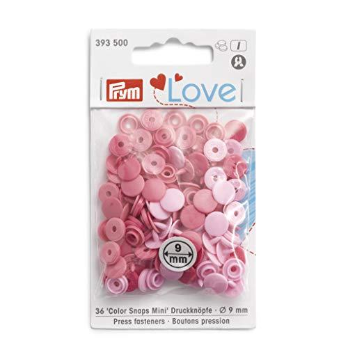 Prym Love Color Snaps Fasteners Mini rosa pálido 36 piezas, talla única