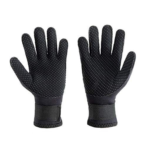 EElabper Tauchhandschuhe 3mm Neopren-Handschuhe Stretchy Warm Anti-rutsch-tauchen-handschuh Für Männer Frauen Swim Kajak-paddel Segeln Surf Schwarz XL