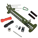 PSKOOK Monkey Fist Jig Y Pulsera Jig Kit Longitud ajustable de Metal Tejer DIY Craft Maker Herramientas 4'-13' con Cuerda de Paracaidas y Hebillas (Ejército Verde)