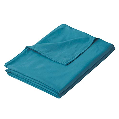PANDAHOME 60''x80'' Teal Duvet Cover, Premium Polyester Microfiber Removable Duvet Cover for Weighted Blanket-Ocean Teal