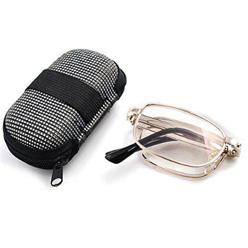 MILISTEN Gafas de Lectura Plegables Gafas Presbiopes 1. 50 Práctico Antifatiga con Estuche Rígido de Bolsillo para Hombres Y Mujeres