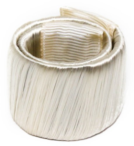 Haarverlängerung Pferdeschwanz Haarverlängerung Nachbildung Ring Schleife Haarschmuck elastisches Band Geschenkpapier - Hellblond