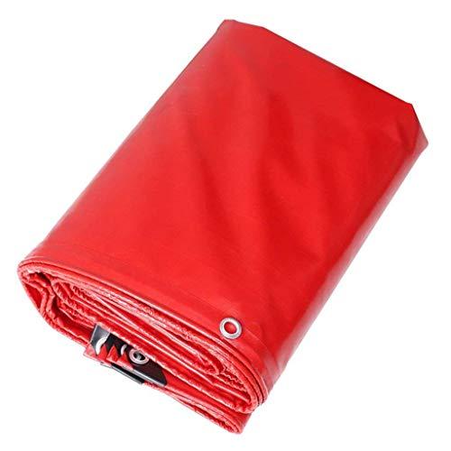 YLCJ Dekzeil voor boot, camper of zwembad cover Rood kan vouwen dekzeil, draagbaar waterdicht zonnebrandcrème Wandelen Camping tafelkleed ZQG cover (Maat: 3 * 4m) 3*3m