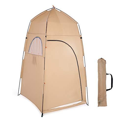 GYFHMY Pop-Up-Umkleideraum, tragbare Instant-Außendusche, Camp-WC, Sichtschutz, leicht, robust, Regenschutz für Camping-Strand mit Tragetasche