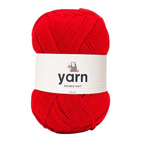 100g rode dubbele acryl garen van Korbond – lichte, hypoallergene en duurzame garen – ideaal voor truien, dekens, babykleding, meubels – weven, breien & haken