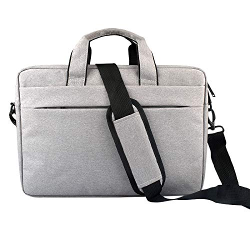 YAN Laptop Bags Portable Breathable Wear-resistant Thin and Light Fashion Shoulder Handheld Zipper Laptop Bag with Shoulder Strap, For 14.0 inch and Below Macbook, Samsung, Lenovo, Sony, DELL Alienwar