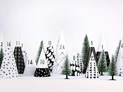 Adventskalender Wald - Hyggewald - von typealive - DIY Bastelbögen im schlichten Design zum selber befüllen