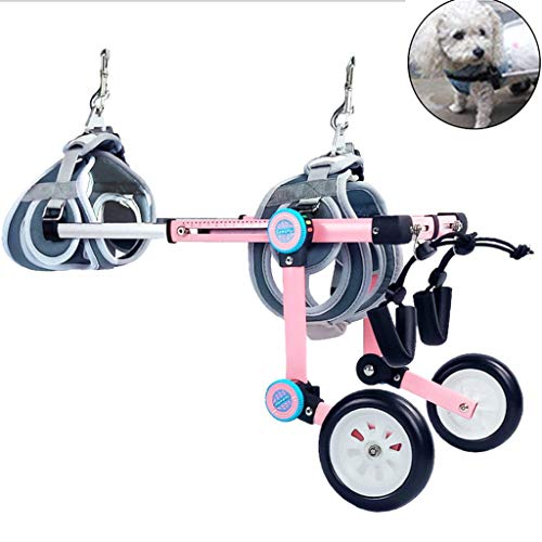 WALK Dog Wheelchair Assistant Cart Kit for Handicapped Cat Dog Puppy Walker Best Friend Joint Aid for Dogs Cat Exercise Wheel Support Wheelchairs,Dog Mobility Harness