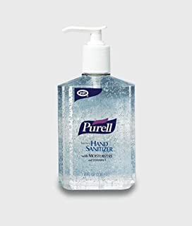 Gojo Purell Clear Instant Hand Sanitizer 8 oz Pump Bottle Clear 12 per case