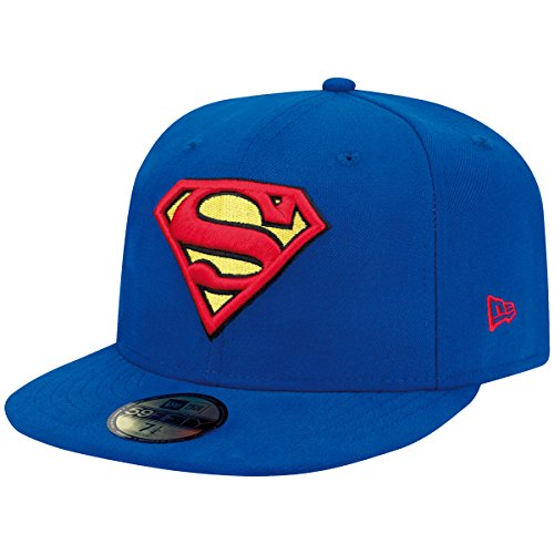 New Era Character Basic Superman 5FIFTY Fitted casquette de Baseball Homme, Bleu (Blue), X-Large (Taille fabricant: 7 1/2)