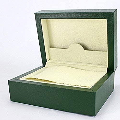 YDJG Caja de madera para relojes Watch Bit, color verde