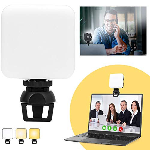 USKEYVISION Video Zoom Light Kit with Holder & Built-in Battery, Compatible with Laptop, iPad, Smartphones & Cameras, Video Conference Lighting for Distance Meeting, Learning & Working (UVZL-C1)