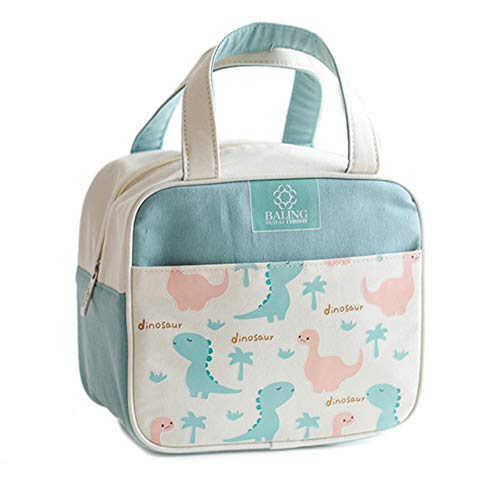 Thermal Cooler Lunch Tote Bag - Durable Handles Zipper With Pockets for Lunch Boxes Women Ladies Adults Kids Boys Girls Office Work College Student