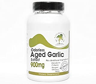 Odorless Aged Garlic Extract 900mg ~ 200 Capsules - No Additives ~ Naturetition Supplements