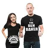 Silk Road Tees Bollo de Baker Pareja de la Mujer de la Maternidad T Shirt Bollo en el Horno papá y mamá Maternidad Pareja New Baby Shower Shirts Camiseta del Embarazo