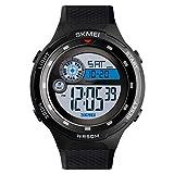 SKMEI Digital Black Dial Boy's and Men's Watch - 1465 Black