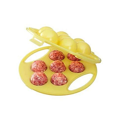 Zidao Frikadellen Maker Mochi Reis Bälle Form Lovely Hand Gefüllt Fleisch Ball Maker Küche Werkzeuge,Gelb