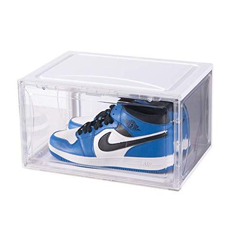 Caja de almacenamiento transparente para zapatos deportivos de baloncesto zapatero magnético de alta parte superior zapatilla de pared de colección de zapatos gabinete (tipo 10)