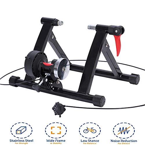 QXT Rollentrainer Für Rennrad & MTB 20-22 Zoll 6-Stufiger Magnetisch-Widerstand Klappbar Inkl. Schnellspanner & Vorderradstütze