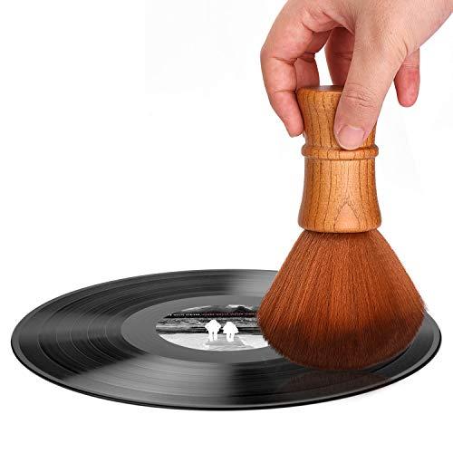 Limpiador de discos de vinilo LP con cepillo de limpieza, antiestático, suave, para CD y álbum de CD