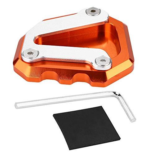 Kickstand Pad - 1 PC Motorrad CNC Seitenständer Kickstand Plate Extension Pad für 790 Duke 2018-2019. (Schwarz, Grau und Orange) (Farbe : Orange)