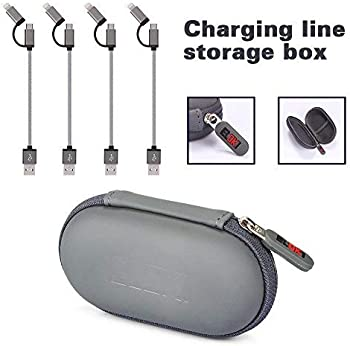 4-Pack Eloki 2-in-1 27cm / 0.8ft Nylon Braided Sync Micro USB Charger