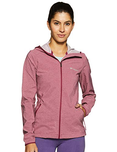Columbia Softshell Jacke für Damen, HEATHER CANYON SOFTSHELL JACKET, Polyester, Violet (Wine Berry Heather), Gr. S, 1717991