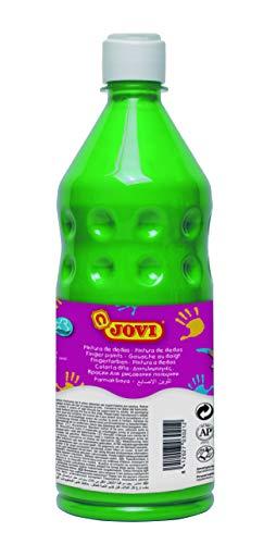 Jovi- Botella de Pintura Dedos, Color verde, 750 mililitros (56217)