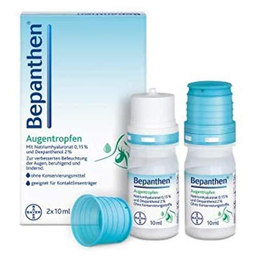 Bepanthen Augentropfen, die Hilfe bei trockenen, geröteten, juckenden oder brennenden Augen, 2x10 ml