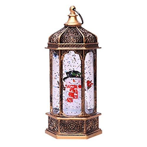 Weihnachtslaterne mit Schneegestöber, LED-Laterne Schneelaterne mit Weihnachtsmann Schneemann Laterne Batteriebetriebene Hängelaternen Flammenlose Lampe Dekorative Lichter