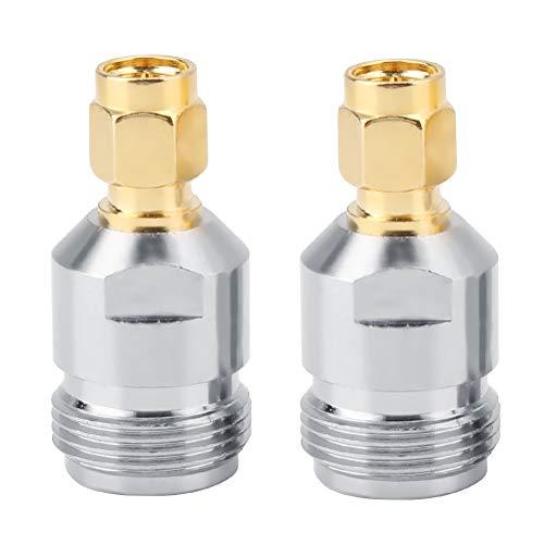 2 Piezas N Hembra a Conector Macho SMA, Adaptador de RF, Convertidor...