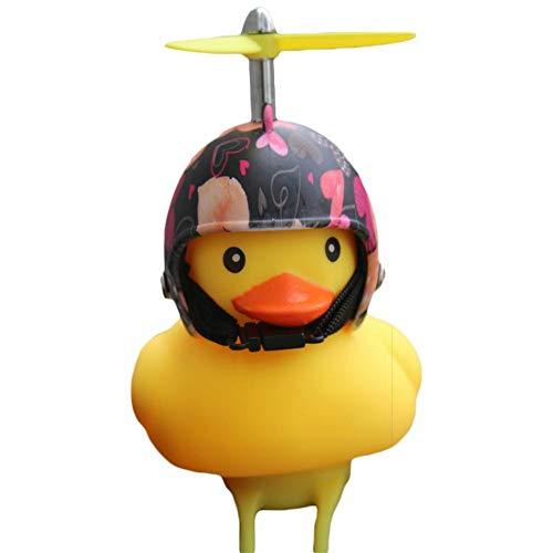 Lustige Tier Kleine Cartoon Hellgelb Ente Fahrradhelm Kopf Licht Glänzende Ente Glocken Fahrrad Lenker Fahrradzubehör