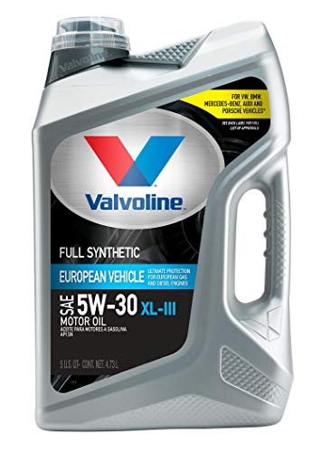 Valvoline European Vehicle Full Synthetic XL-III SAE 5W-30 Motor Oil 5 QT
