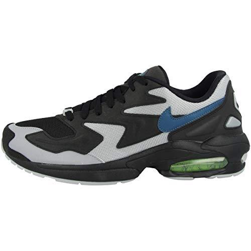 Nike Herren Air Max2 Light Leichtathletikschuhe, Mehrfarbig (Black/Thunderstorm/Wolf Grey/Volt 000), 46 EU