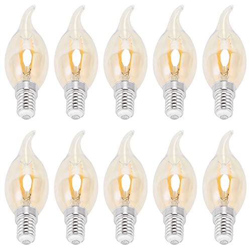 Lampadina in vetro trasparente, lampadina C35 Filamento LED di grandi dimensioni Risparmio energetico per illuminazione di interni per illuminazione di esterni per componenti elettrici