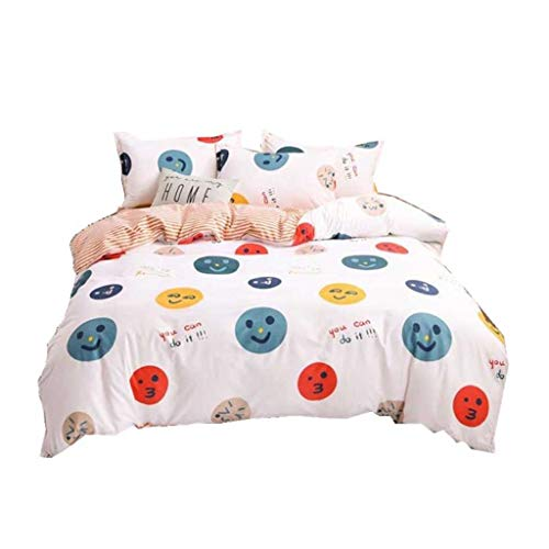 DYXYH Mode Bettwäsche Set Familie Set Blatt Duvet Cover Kissenbezug Full King Single Queen (Size : 1.8m)