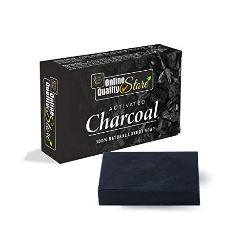 Online Quality Store Activated charcoal soap charcoal soap soap Activated Charcoal Bath Soap for Deep Clean and Anti-pollution Effect bath Soap Chemical Free Charcoal bath Soap (100 grams, Black)