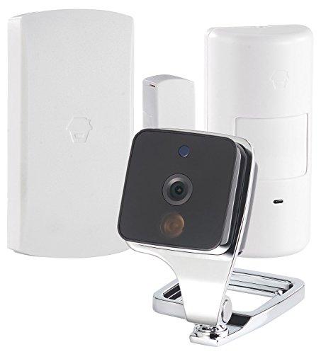 VisorTech Fenster Kamera: WLAN-IP-Überwachungskamera mit Bewegungsmelder & Fenster- / Türsensor (WLAN Kamera mit Bewegungsmelder)