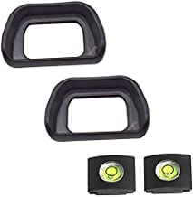 Eyepiece Eyecup Viewfinder Eye Cup for Sony Alpha A6100 A6300 A6000 NEX-6 NEX-7 Digital Camera for viewfinder FDA-EV2S (2-Pack),ULBTER FDA-EP10 Eyepiece Eye Cup with Hot Shoe Cover