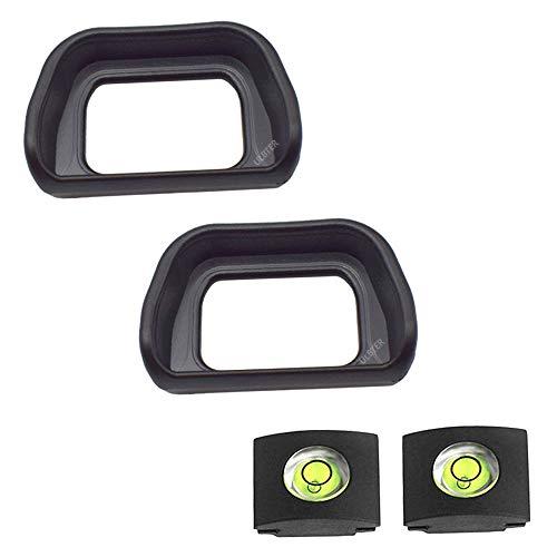 ULBTER FDA-EP10 Visor de Ojos para cámaras Sony Alpha A6300 A6000 NEX-6 NEX-7 (2 Unidades),Visor con Nivel de Burbuja