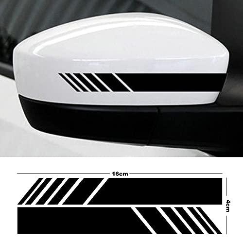 eSTORE-24 Online Marketing & Grafikdesign 2 PCS Reflektierender Auto Aufkleber Sticker Wasserdicht Scheinwerfer Aufkleber Fit fürs Auto Motorrad Folie schwarz (16x4cm)