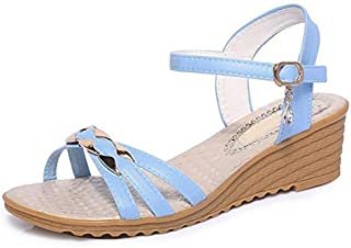 Sandals with rhinestones For women summer wedges with high heels for women Open toe sandals women's casual shoes light wei...