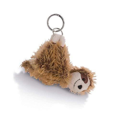 NICI 42540 Faultier Chill Bill 10cm Schlüsselanhänger, Braun