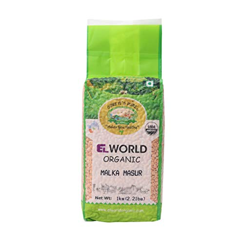 Elworld Agro & Organic Malka Masur (Red Lentils Whole) 1 Kilogram