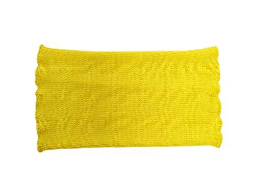 Unisex Bauchband 100% Merinowolle Bauch Nieren Taillenwärmer Haramaki Schwangere Frauen Männer Strick Gestrickt Gr. 85, gelb