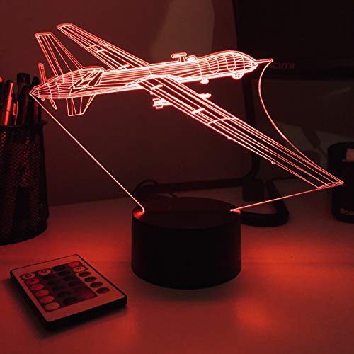 MQ-9 Reaper Drone - 3D Optical Illusion Lamp - Without Remote