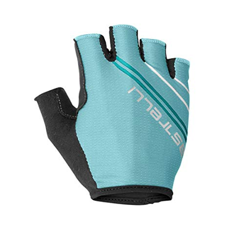 castelli Dolcissima 2 W, Guantes de Ciclismo para Mujer, Mujer, 4519060, Light Turquoise/Marine Blue, XS