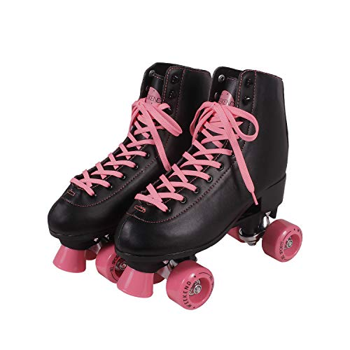 Patins Weekend Clássico Bel Fix Preto/Rosa 36