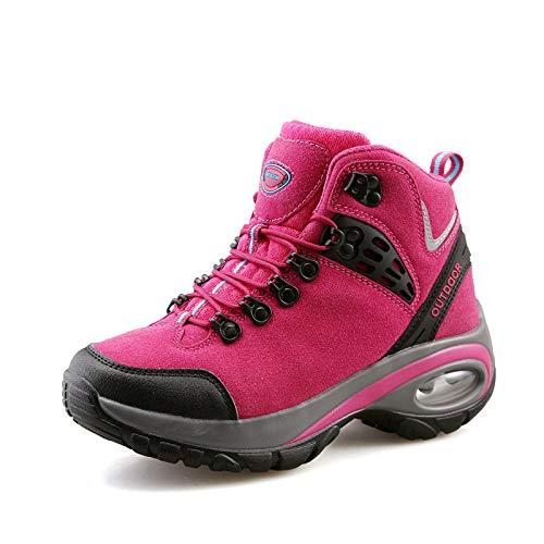 Aerlan Treaded Sole Trainers,Calzado de Fitness para Trail Running,Zapatos de Senderismo de caña Alta Zapatos de Senderismo Antideslizantes Resistentes al Desgaste para Exteriores-Red_37#