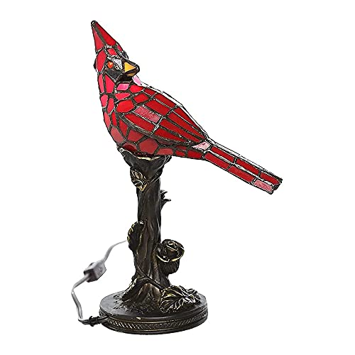Mgsda Lámpara Acento Pájaro Vidrieras 2 Piezas, Lámpara Mesa Pájaro Resina Luz Nocturna Creativa Exteriores, Dormitorio, Decoración Arte para El Hogar, Iluminación, Lámpara De Mesa Brillante,1
